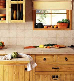 Ceramic kitchen countertops