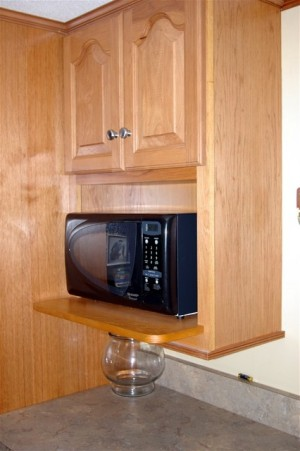 Enjoy The Convenience Of A Microwave Kitchen Cabinet